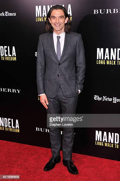 """Director Justin Chadwick attends """"Mandela: Long Walk To Freedom"""" screening hosted by U2, Anna Wintour, Bob and Harvey Weinstein with Burberry at..."""