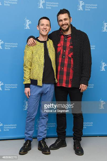 Director Justin Kelly and actor James Franco attend the 'I Am Michael' photocall during the 65th Berlinale International Film Festival at Grand Hyatt...