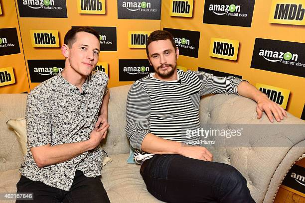 Director Justin Kelly and actor James Franco attend the IMDb Amazon Instant Video Studio at the village at the lift on January 25 2015 in Park City...