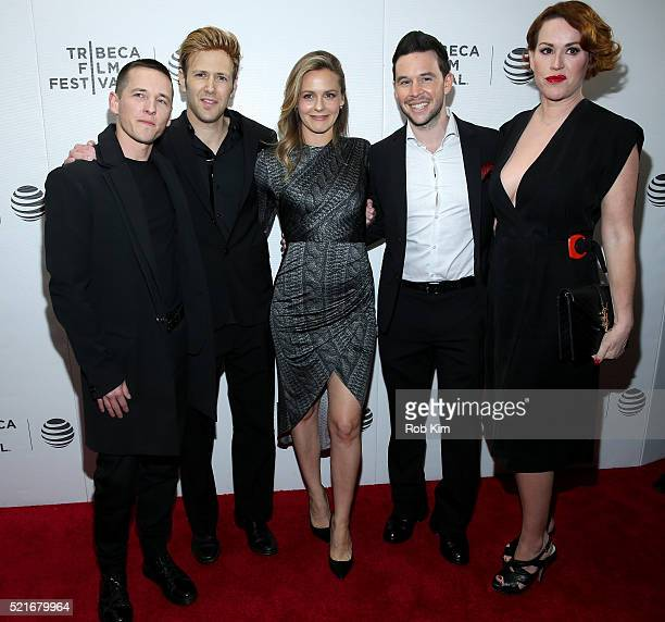 Director Justin Kelly Scott Levenson Actress Alicia Silverstone Jordan Yale Levine and Actress Molly Ringwald attend the 'King Cobra' Premiere 2016...