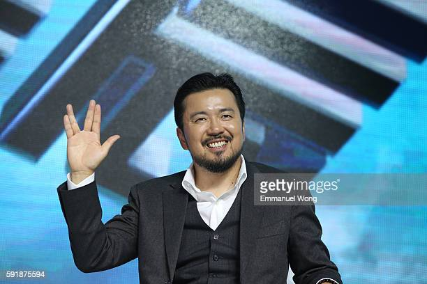 """Director Justin Lin attends the press conference of the Paramount Pictures title """"Star Trek Beyond"""", on August 18, 2016 at Indigo Mall in Beijing,..."""
