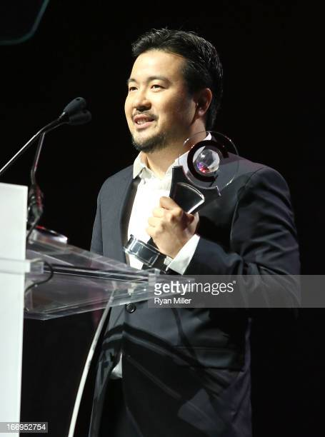 Director Justin Lin recipient of the Director of the Year award speaks onstage at the CinemaCon 2013 Final Night Awards at Caesars Palace during...