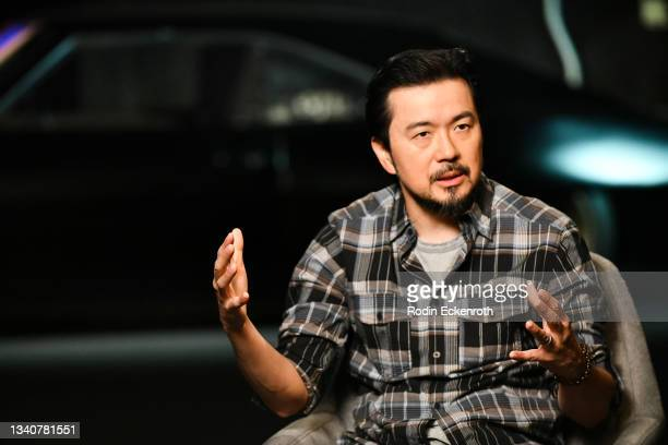 Director Justin Lin speaks during an interview at the F9 Fest event on the Universal Studios backlot celebrating F9: The Fast Saga on September 15,...