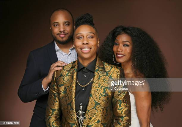 Director Justin Simien actress Lena Waithe and actress Angela Bassett pose for a portrait at the Beverly Wilshire Four Seasons Hotel on March 1 2018...