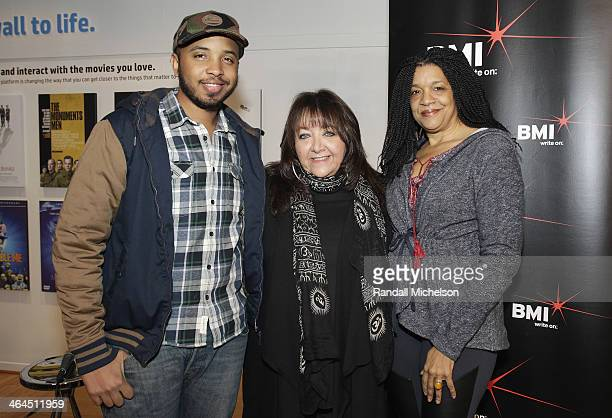 Director Justin Simien BMI's Doreen RingerRoss and composer Kathryn Bostic attend BMI's 16th Annual Composer/Director Roundtable Music Film The...