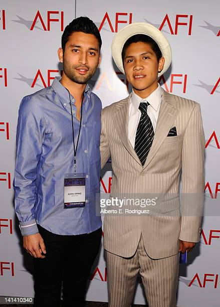Director Justin Tipping and actor Johnny Ortiz attend the AFI Conservatory's Thesis Showcase at Directors Guild Of America on March 15 2012 in Los...