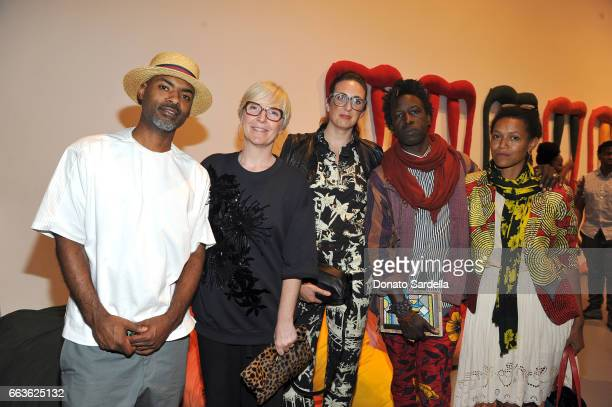 Director Kahlil Joseph MOCA Chief Curator Helen Molesworth Megan Steinman singersongwriter Saul Williams and actor Anisia Uzeyman attend MOCA's...