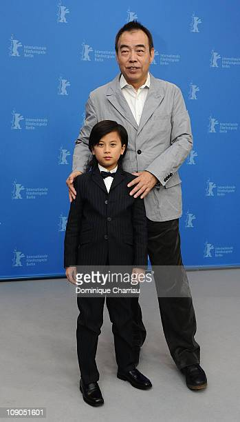 Director Kaige Chen and actor William Wang attend the 'Zhao Shi Gu Er' Photocall during day four of the 61st Berlin International Film Festival at...