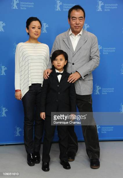 Director Kaige Chen , producer Hong Chen and actor William Wang attend the 'Zhao Shi Gu Er' Photocall during day four of the 61st Berlin...