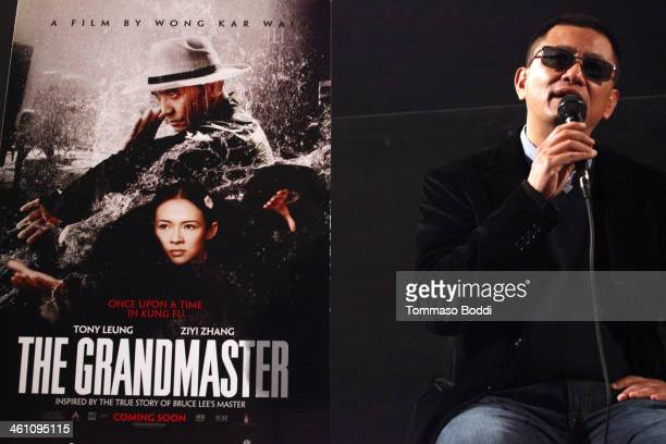 Director Kar Wai Wong attends the 'The Grandmaster' special screening and QA held at American Cinematheque's Egyptian Theatre on January 6 2014 in...