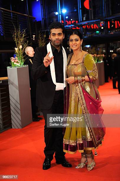 Director Karan Johar and actress Kajol Devgan attend the 'My Name Is Khan' Premiere during day two of the 60th Berlin International Film Festival at...