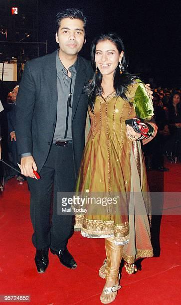 Director Karan Johar and Kajol at the Apsara awards ceremony in Mumbai on Friday, January 8, 2010.