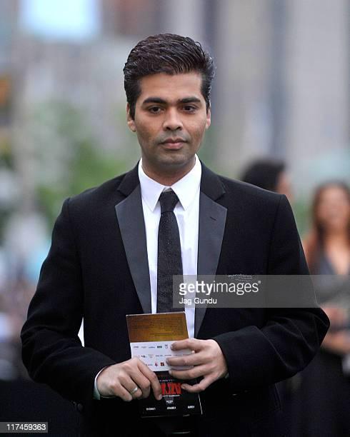 Director Karan Johar attends the IIFA Awards green Carpet held at the Rogers Centre on June 25 2011 in Toronto Canada
