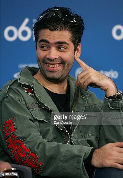 Director Karan Johar attends the Never Say Goodbye press conference during the Toronto International Film Festival held at the Sutton Place Hotel on...