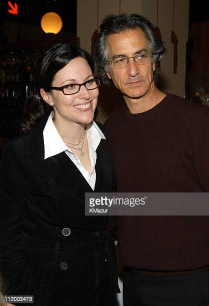 Director Karen Moncrieff and David Strathairn during 'Blue Car' After Party at Osteria Del Circo in New York City New York United States