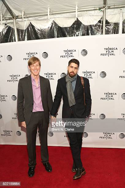 Director Karl Mueller and Actor Adam Goldberg attend the world premiere of 'Rebirth' during the 2016 Tribeca Film Festival held at the SVA Theatre 2...