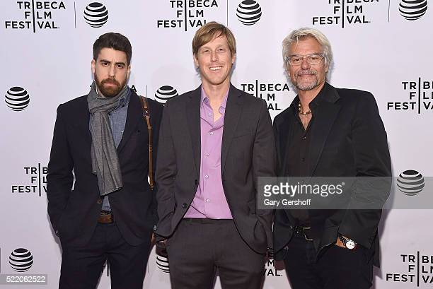 Director Karl Mueller and actors Adam Goldberg and Harry Hamlin attend 'The Rebirth' premiere during 2016 Tribeca Film Festival at SVA Theatre on...