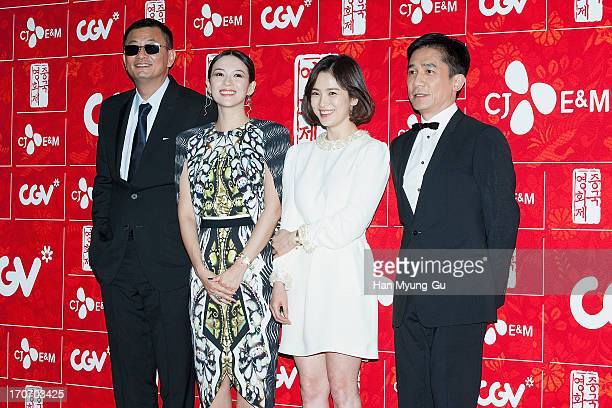 Director Karwai Wong actors Zhang Ziyi Tony Leung Chiu Wai and Song HyeKyo arrive during the 2013 Chinese Film Festival opening ceremony at Yeouido...