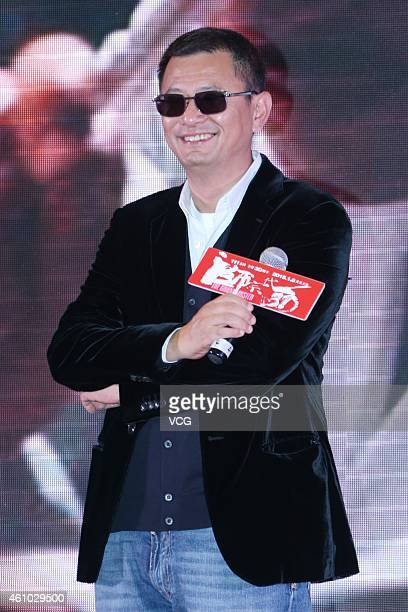 Director Karwai Wong attends his film 'The Grandmaster 3D' Shanghai Premiere on January 4 2015 in Shanghai China