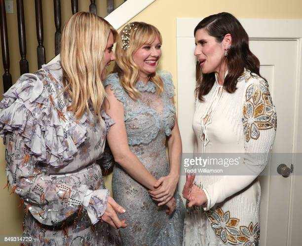 Director Kate Mulleavy Kirsten Dunst and Director Laura Mulleavy attend the premiere Of A24's 'Woodshock' at ArcLight Cinemas on September 18 2017 in...