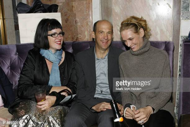Director Katherine Dieckmann actor Anthony Edwards and Uma Thurman attends the screening of 'Motherhood' after party hosted by Gotham Magazine at the...