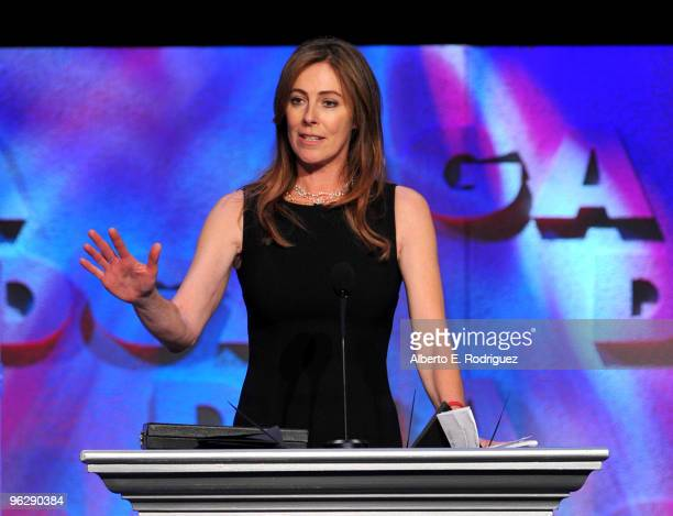 Director Kathryn Bigelow accepts the Feature Film DGA Award for The Hurt Locker onstage during the 62nd Annual Directors Guild Of America Awards at...