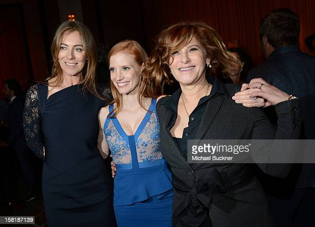 Director Kathryn Bigelow, actress Jessica Chastain and Co-Chairman-Sony Pictures Entertainment Amy Pascal attend the after party for the premiere of...