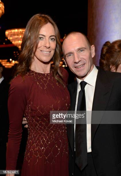 Director Kathryn Bigelow and actor Ralph Fiennes with Stylebopcom attend the 2013 BAFTA LA Jaguar Britannia Awards presented by BBC America at The...