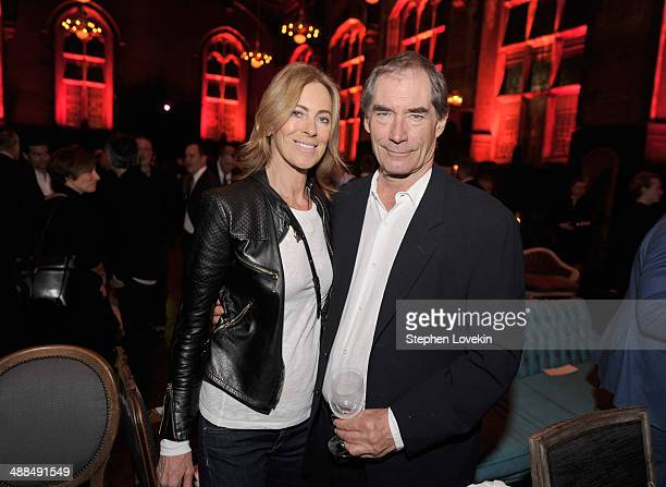 Director Kathryn Bigelow and actor Timothy Dalton attend Showtime's PENNY DREADFUL world premiere at The High Line Hotel on May 6 2014 in New York...