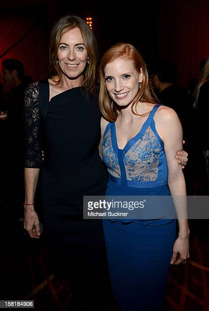 Director Kathryn Bigelow and actress Jessica Chastain attend the after party for the premiere of Columbia Pictures' Zero Dark Thirty at the Dolby...