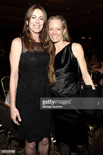 Director Kathryn Bigelow and actress Suzy Amis attend the 2010 Writers Guild Awards held at the Hyatt Regency Century Plaza on February 20 2010 in...