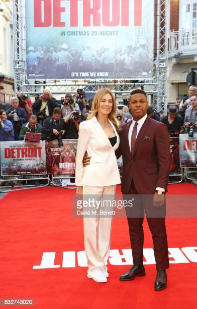Director Kathryn Bigelow and John Boyega attend the European Premiere of 'Detroit' at The Curzon Mayfair on August 16 2017 in London England