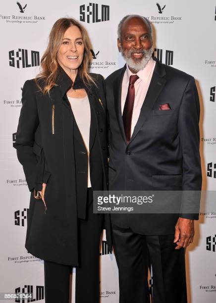 Director Kathryn Bigelow and John Powell attend the 2017 SFFILM Awards Night at Palace of Fine Arts Theatre on December 5 2017 in San Francisco...