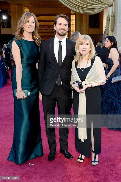 Director Kathryn Bigelow and Mark Boal arrive at the Oscars at Hollywood Highland Center on February 24 2013 in Hollywood California