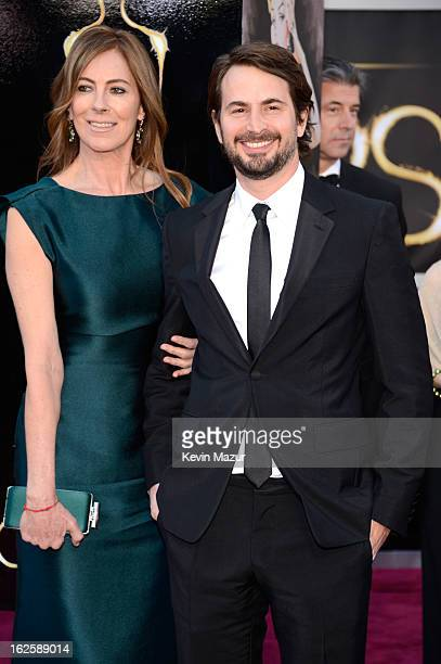 Director Kathryn Bigelow and Mark Boal arrive at the Oscars held at Hollywood Highland Center on February 24 2013 in Hollywood California