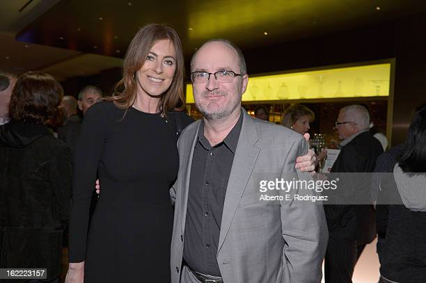 Director Kathryn Bigelow and Steve Pond Awards Editor for TheWrap attend TheWrap 4th Annual PreOscar Party at Four Seasons Hotel Los Angeles at...