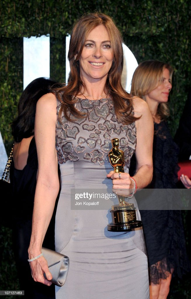 Director Kathryn Bigelow arrives at the 2010 Vanity Fair Oscar Party held at Sunset Tower on March 7, 2010 in West Hollywood, California.