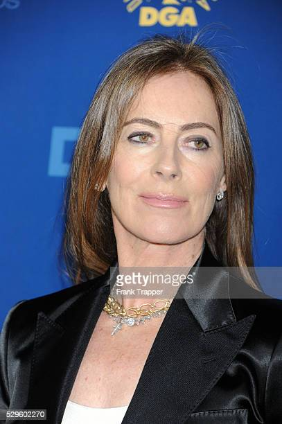 Director Kathryn Bigelow arrives at the 65th Annual Directors Guild Awards held at the Ray Dolby Ballroom at Hollywood Highland
