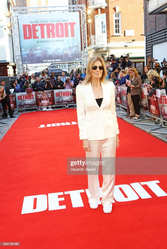 Director Kathryn Bigelow attends the European Premiere of 'Detroit' at The Curzon Mayfair on August 16, 2017 in London, England.