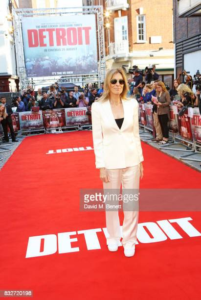 Director Kathryn Bigelow attends the European Premiere of 'Detroit' at The Curzon Mayfair on August 16 2017 in London England