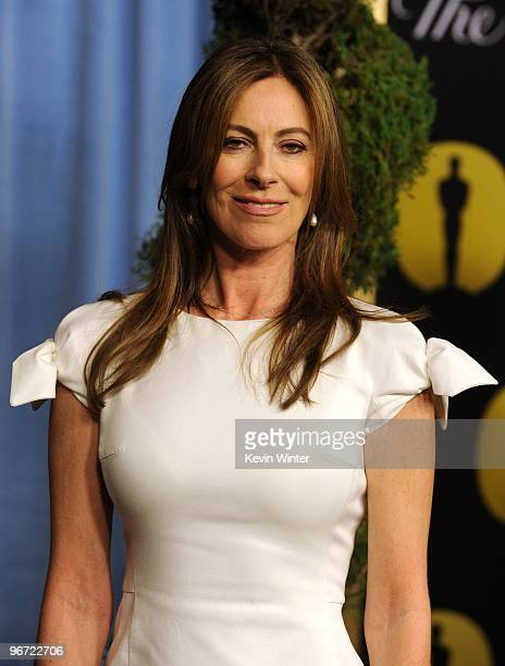 Director Kathryn Bigelow poses at the 82nd annual Academy Awards Nominee Luncheon at Beverly Hilton Hotel on February 15 2010 in Los Angeles...