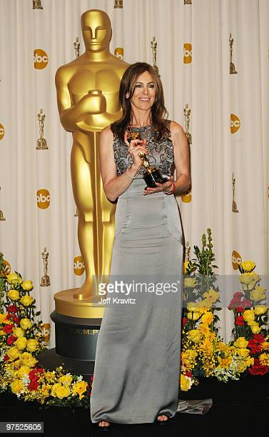 Director Kathryn Bigelow poses in the press room at the 82nd Annual Academy Awards held at Kodak Theatre on March 7 2010 in Hollywood California