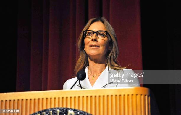 Director Kathryn Bigelow speaks at a special screening of 'Detroit' hosted by Annapurna Pictures at the Directors Guild of America on August 3 2017...