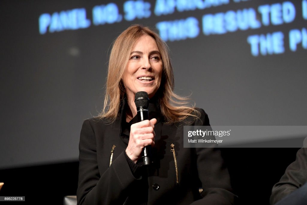 Director Kathryn Bigelow speaks onstage during the Hammer Museum presents The Contenders 2017 'Detroit' at Hammer Museum on December 18, 2017 in Los Angeles, California.
