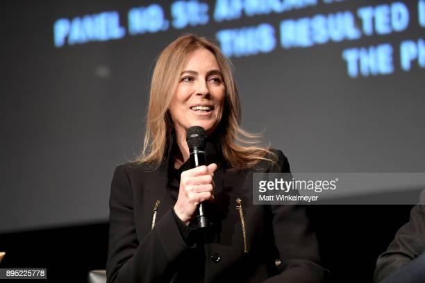Director Kathryn Bigelow speaks onstage during the Hammer Museum presents The Contenders 2017 'Detroit' at Hammer Museum on December 18 2017 in Los...
