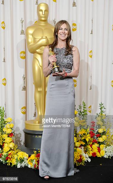 Director Kathryn Bigelow winner of Best Director award for The Hurt Locker poses in the press room at the 82nd Annual Academy Awards held at Kodak...