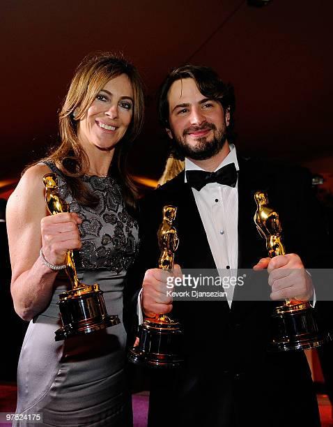 Director Kathryn Bigelow winner of Best Director award for The Hurt Locker and screenwriter Mark Boal winner of Best Original Screenplay award for...