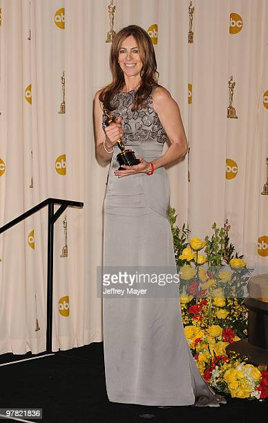 Director Kathryn Bigelow winner of Best Director award for 'The Hurt Locker' poses in the press room at the 82nd Annual Academy Awards at the Kodak...