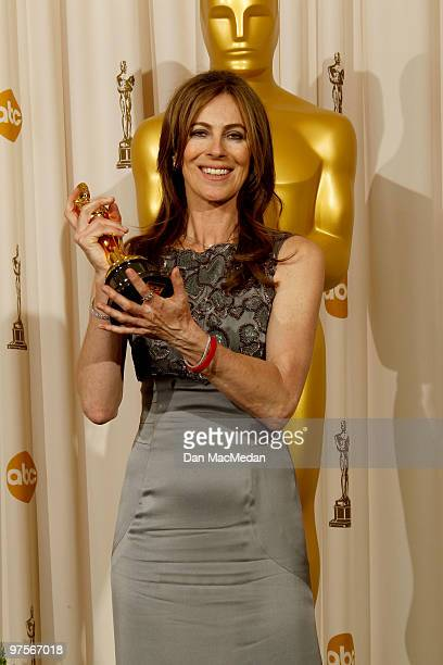 Director Kathryn Bigelow winner of Best Director for The Hurt Locker poses in the press room at the 82nd Annual Academy Awards held at the Kodak...