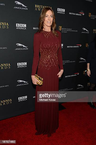 Director Kathryn Bigelow with Stylebopcom attends the 2013 BAFTA LA Jaguar Britannia Awards presented by BBC America at The Beverly Hilton Hotel on...